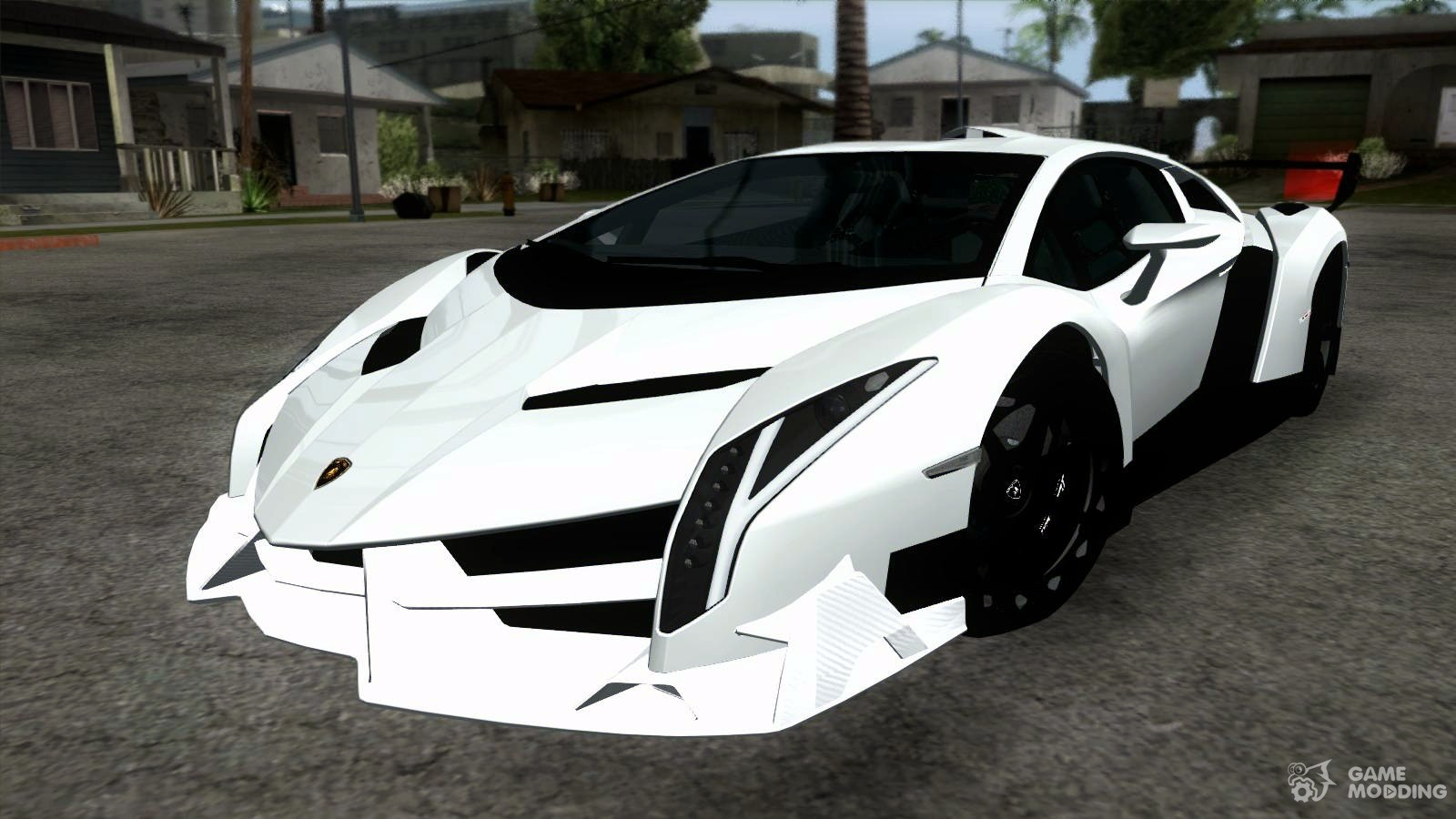 lamborghini veneno white black 2014 for gta san andreas