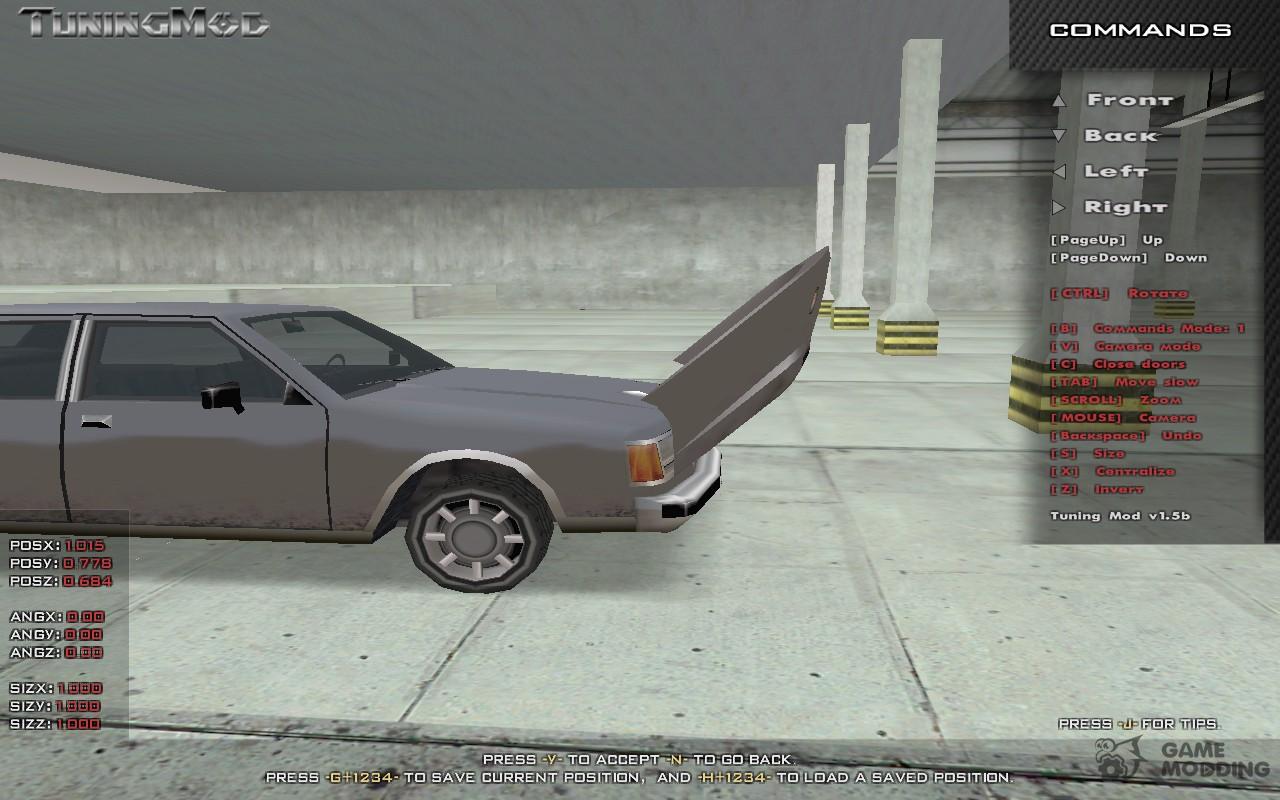 Tuning Mod v1 5 (b) for GTA San Andreas