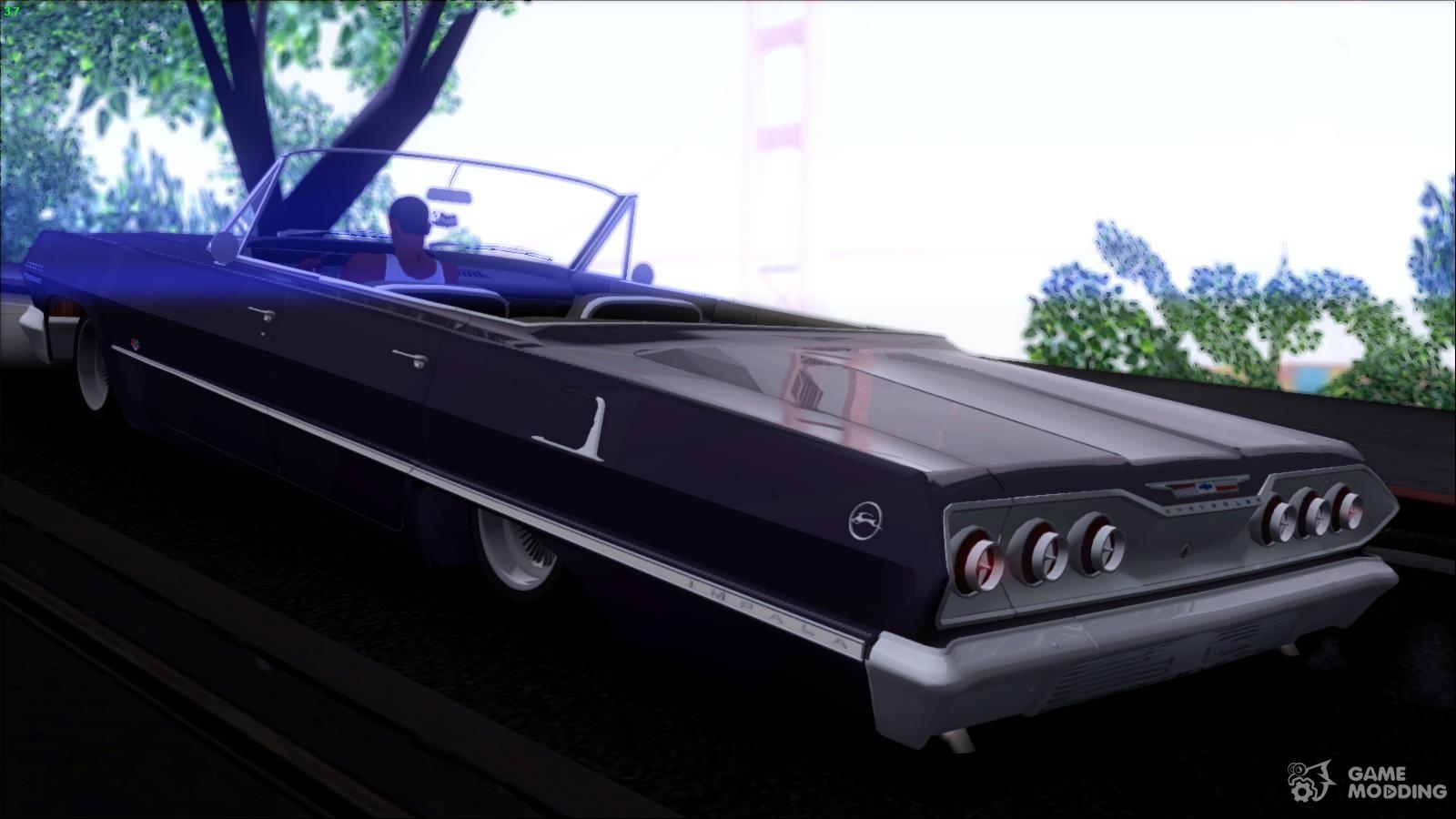Chevrolet impala 4 door hardtop 1963 for gta san andreas - Chevrolet Impala 1963 For Gta San Andreas Left View