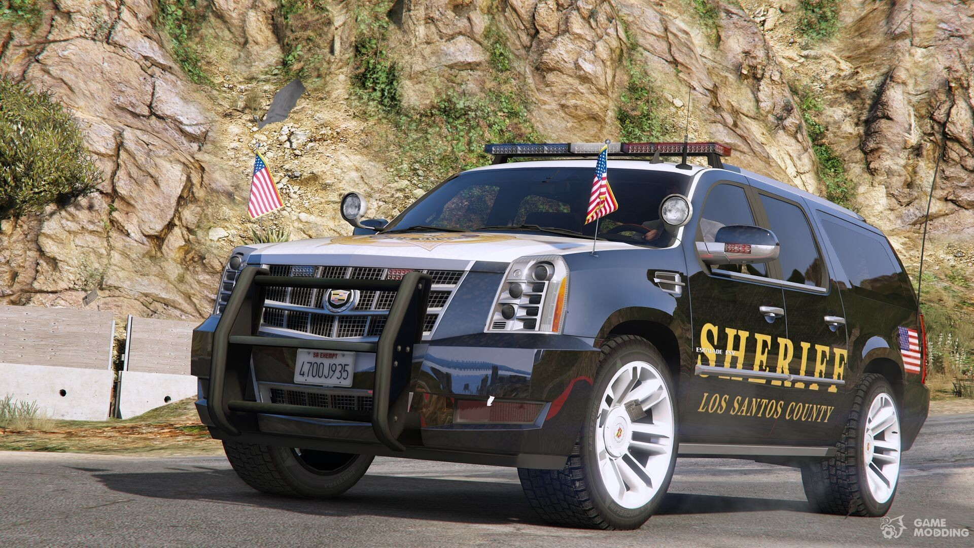2012 cadillac escalade esv police version for gta 5. Black Bedroom Furniture Sets. Home Design Ideas