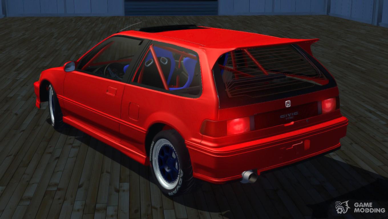 Honda Civic 1991 For Street Legal Racing Redline
