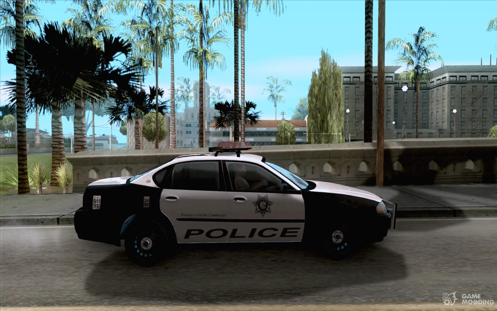 Chevrolet impala police 2003 for gta san andreas inside view