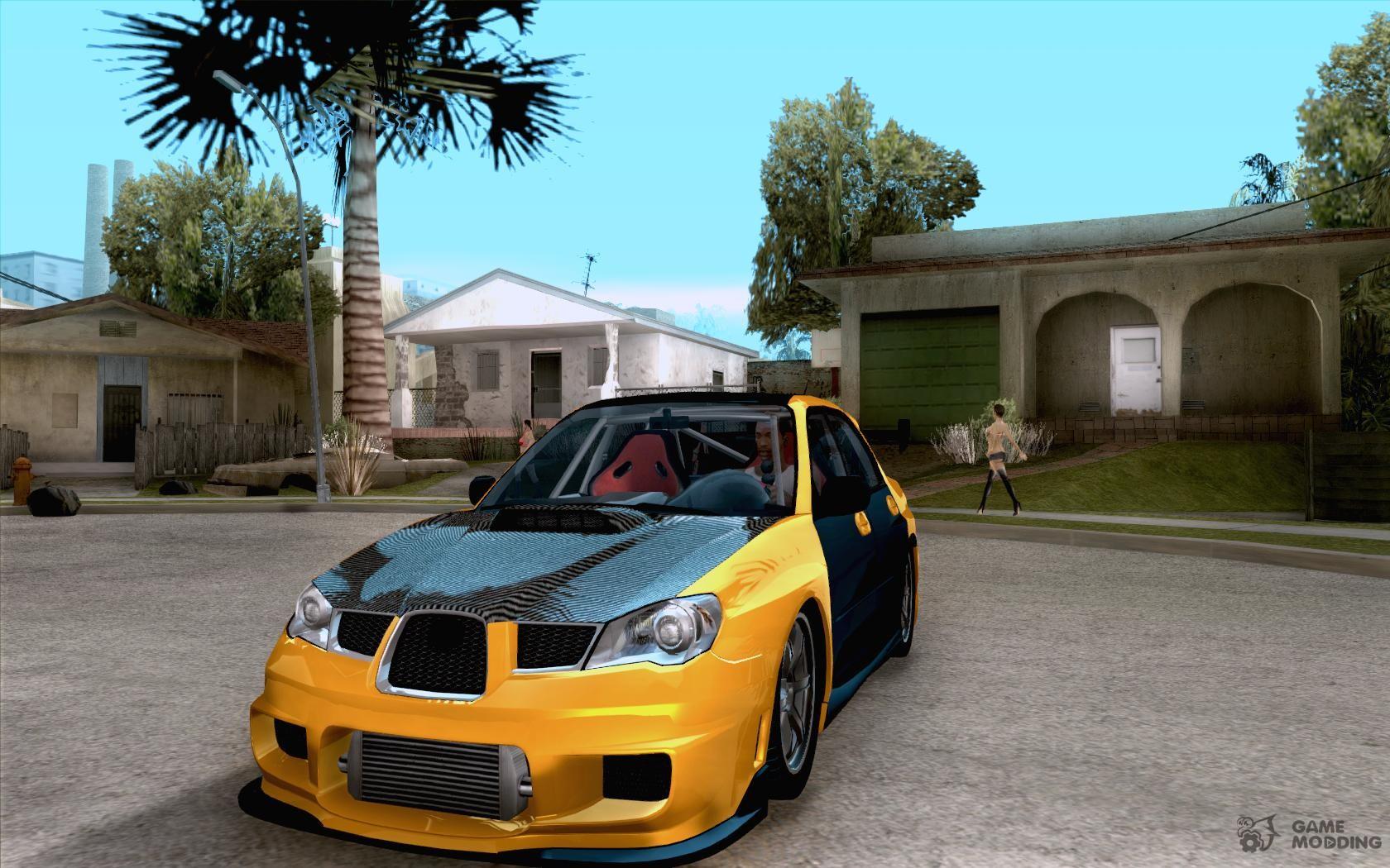 Subaru Impreza 2018 Tuning >> Subaru Impreza WRX Sti 2006 Elemental Attack (orange) for GTA San Andreas