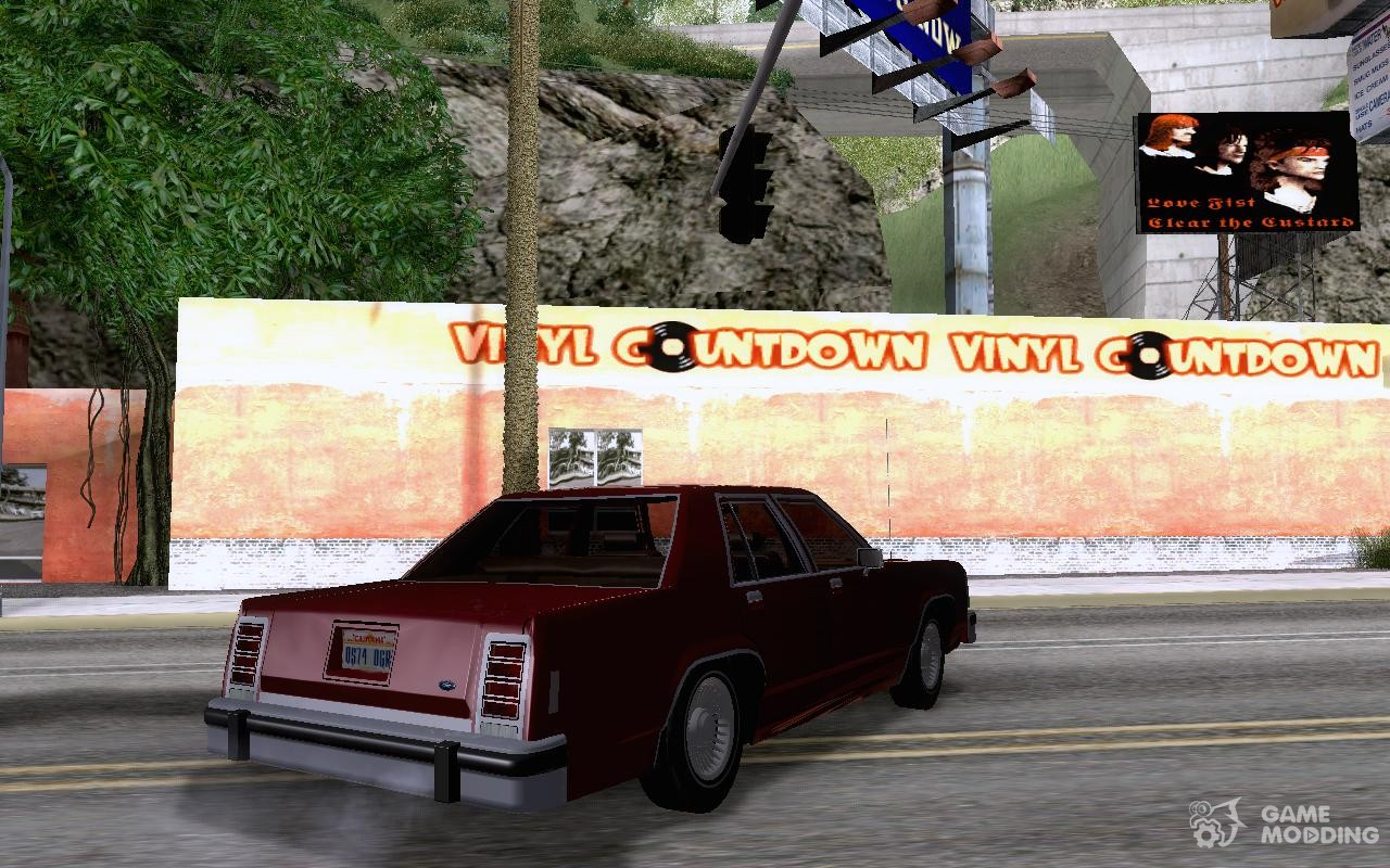Ford crown victoria ltd 1985 for gta san andreas top view