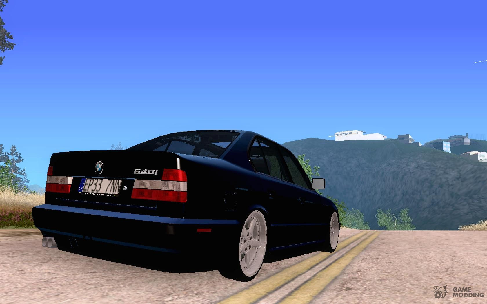bmw e34 540i v8 for gta san andreas. Black Bedroom Furniture Sets. Home Design Ideas