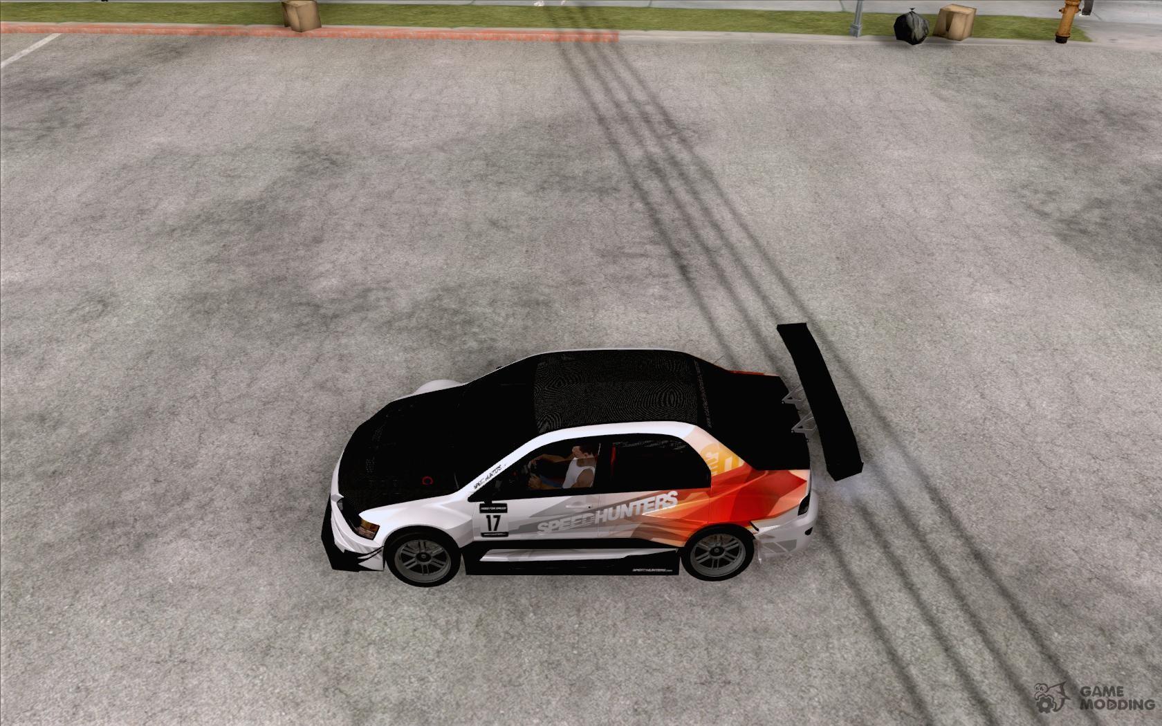 Mitsubishi lancer evo ix speedhunters edition for gta san andreas left view