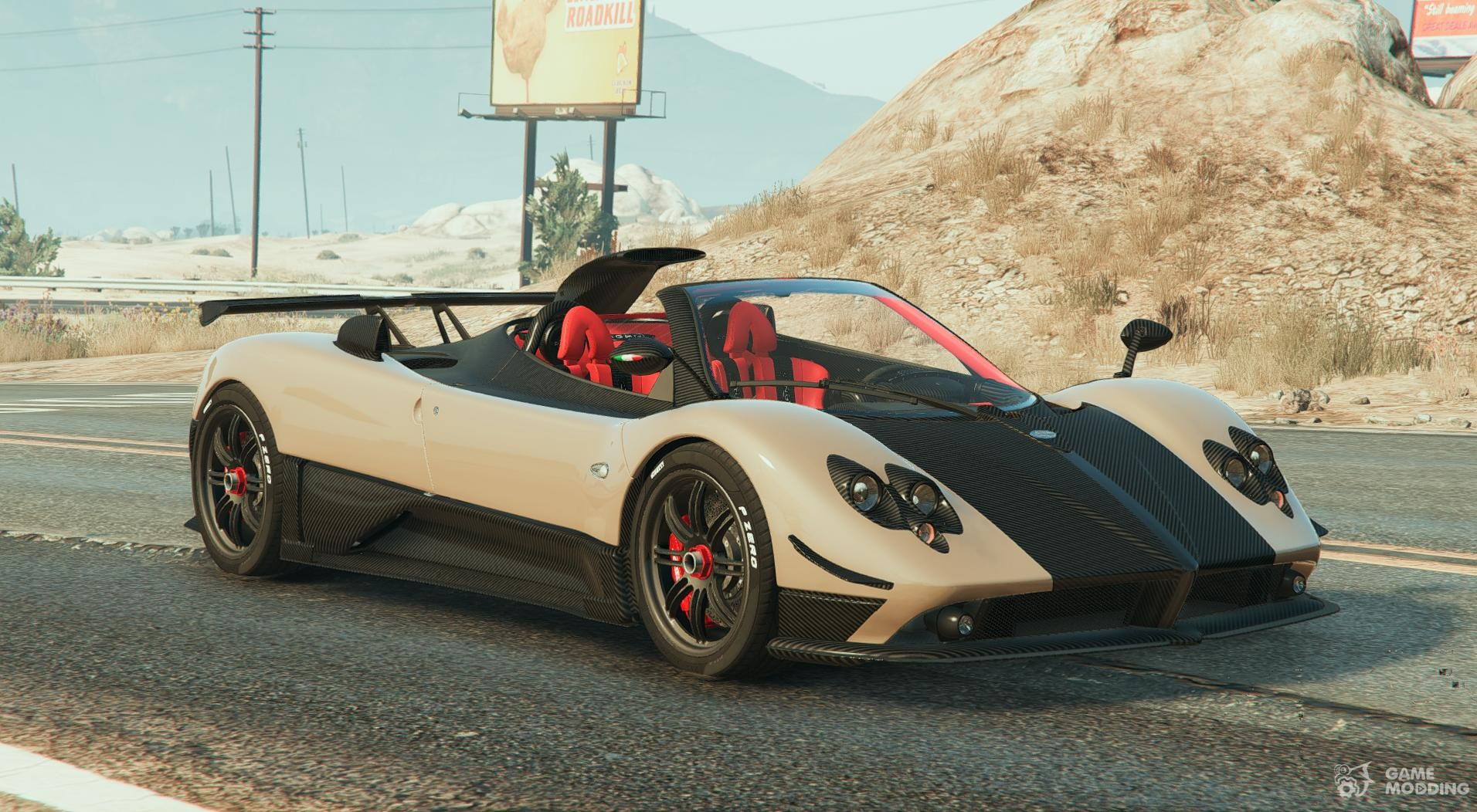 pagani zonda cinque roadster for gta 5. Black Bedroom Furniture Sets. Home Design Ideas