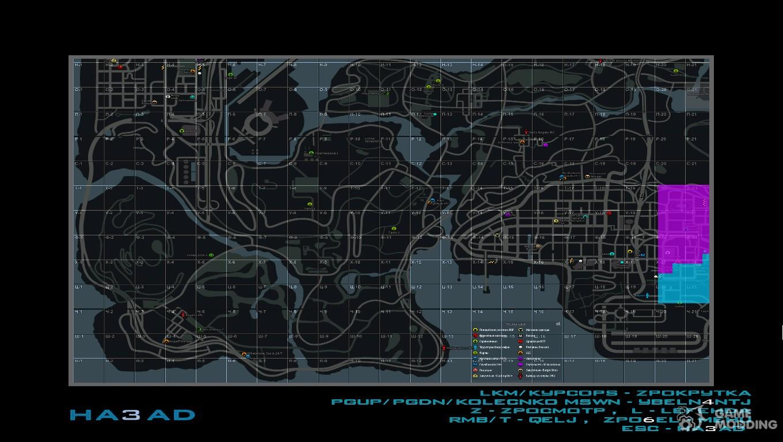 Map in the style of GTA IV for SAMP RP with squares for ...: http://www.gamemodding.net/en/gta-san-andreas/gta-sa-maps/57336-karta-v-stile-gta-iv-dlya-samp-rp-s-kvadratami.html