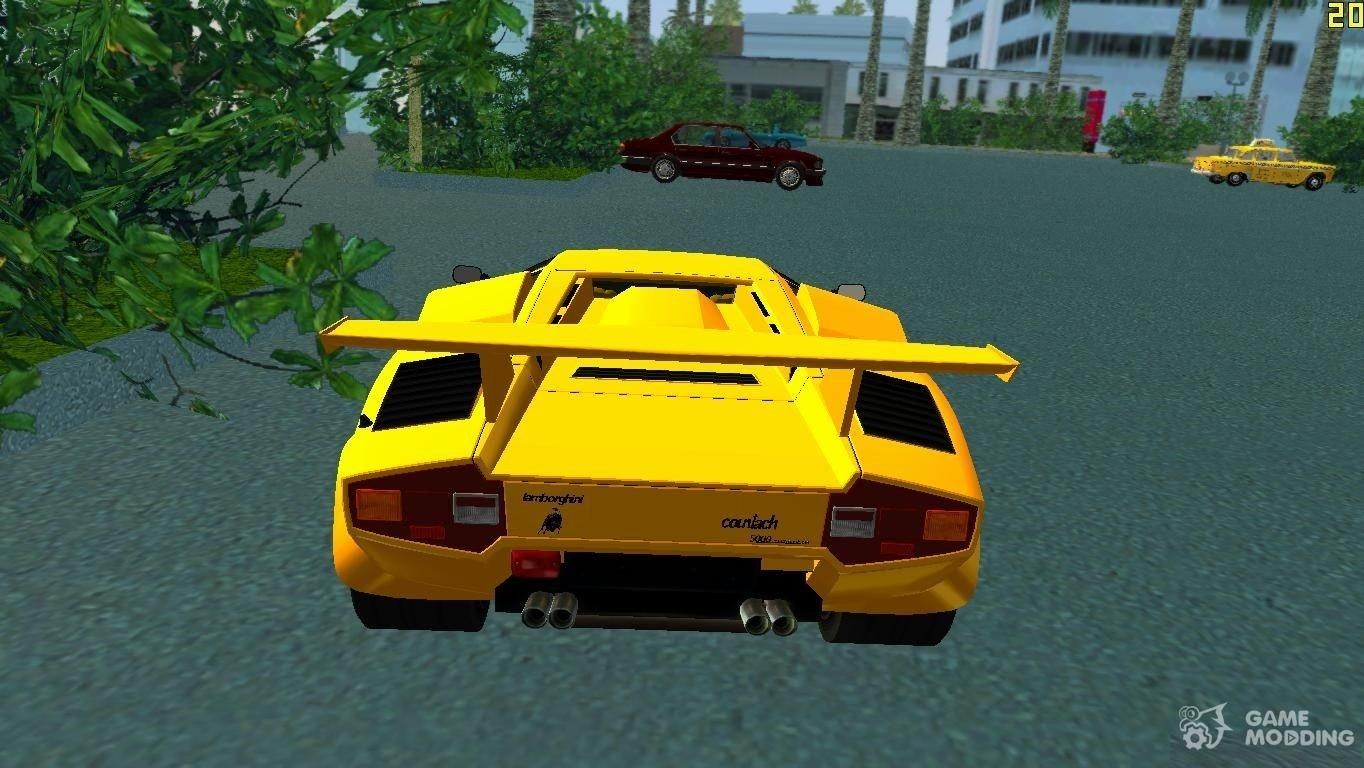 Lamborghini Countach Lp5000 Qv Tt Custom For Gta Vice City