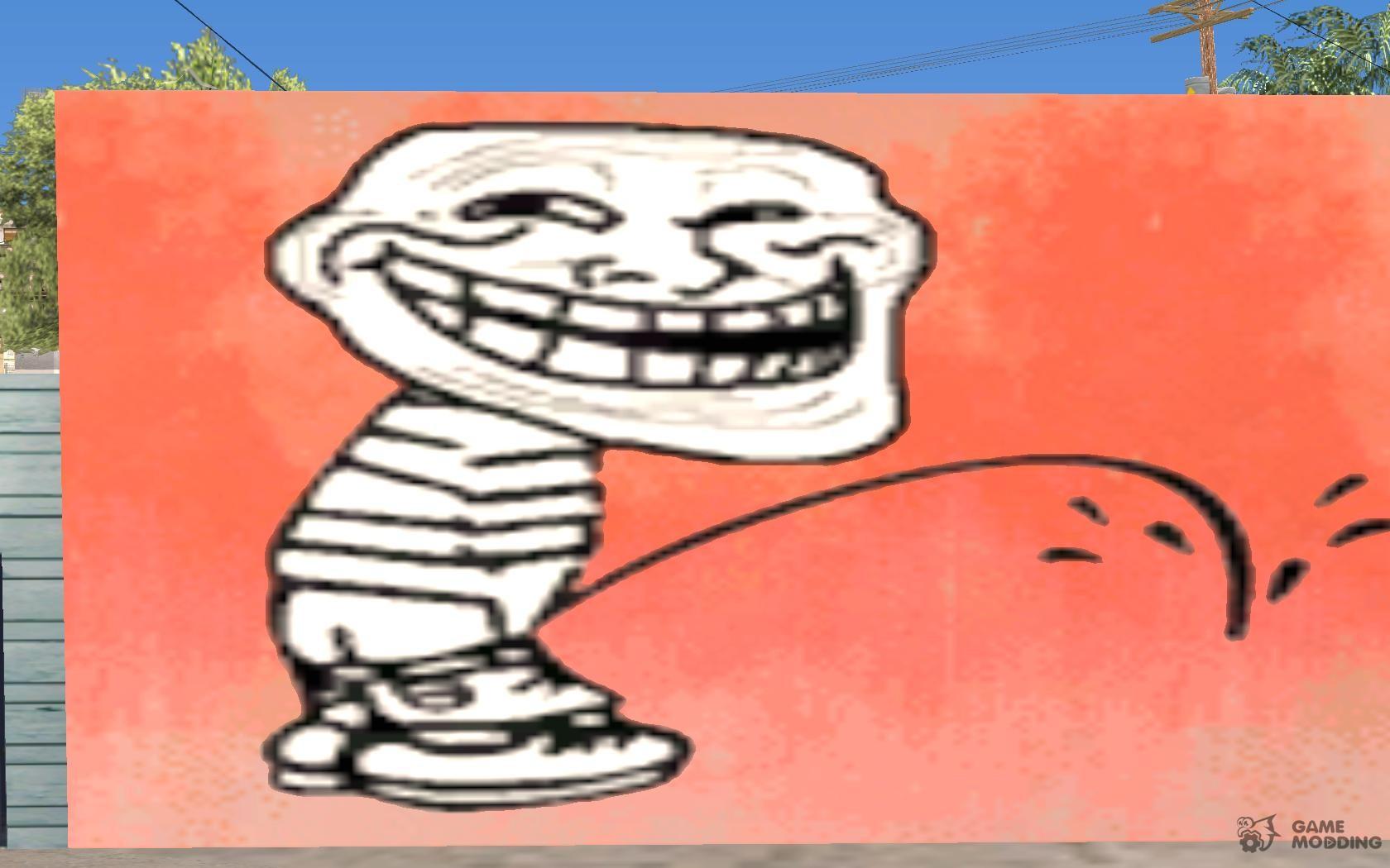 Trollface Graffiti For Gta San Andreas