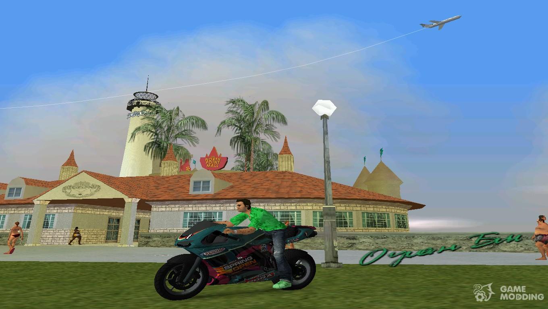 Gta V To Bati Dark Green For Gta Vice City