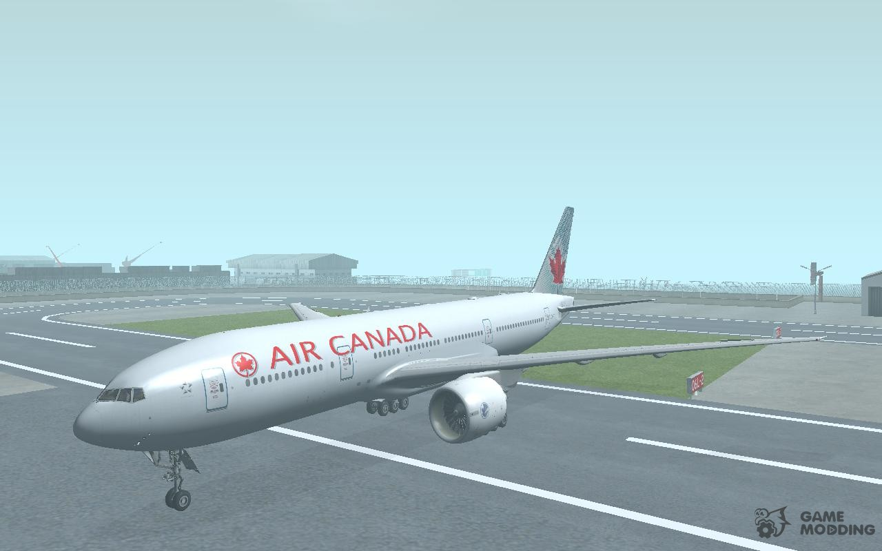 boeing 777 200 air canada for gta san andreas. Black Bedroom Furniture Sets. Home Design Ideas