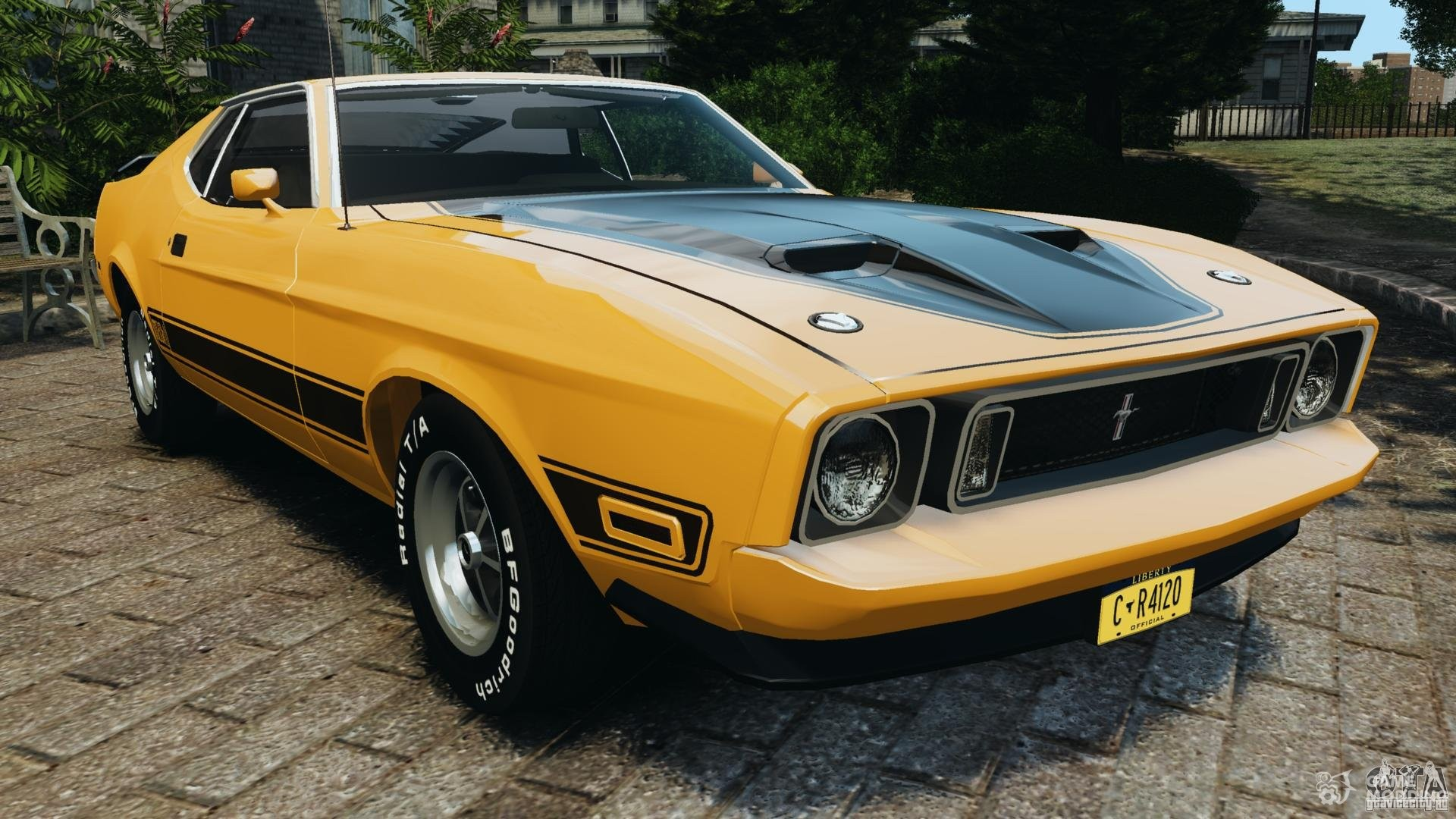 1973 ford mustang mach 1 v2 for gta 4. Black Bedroom Furniture Sets. Home Design Ideas