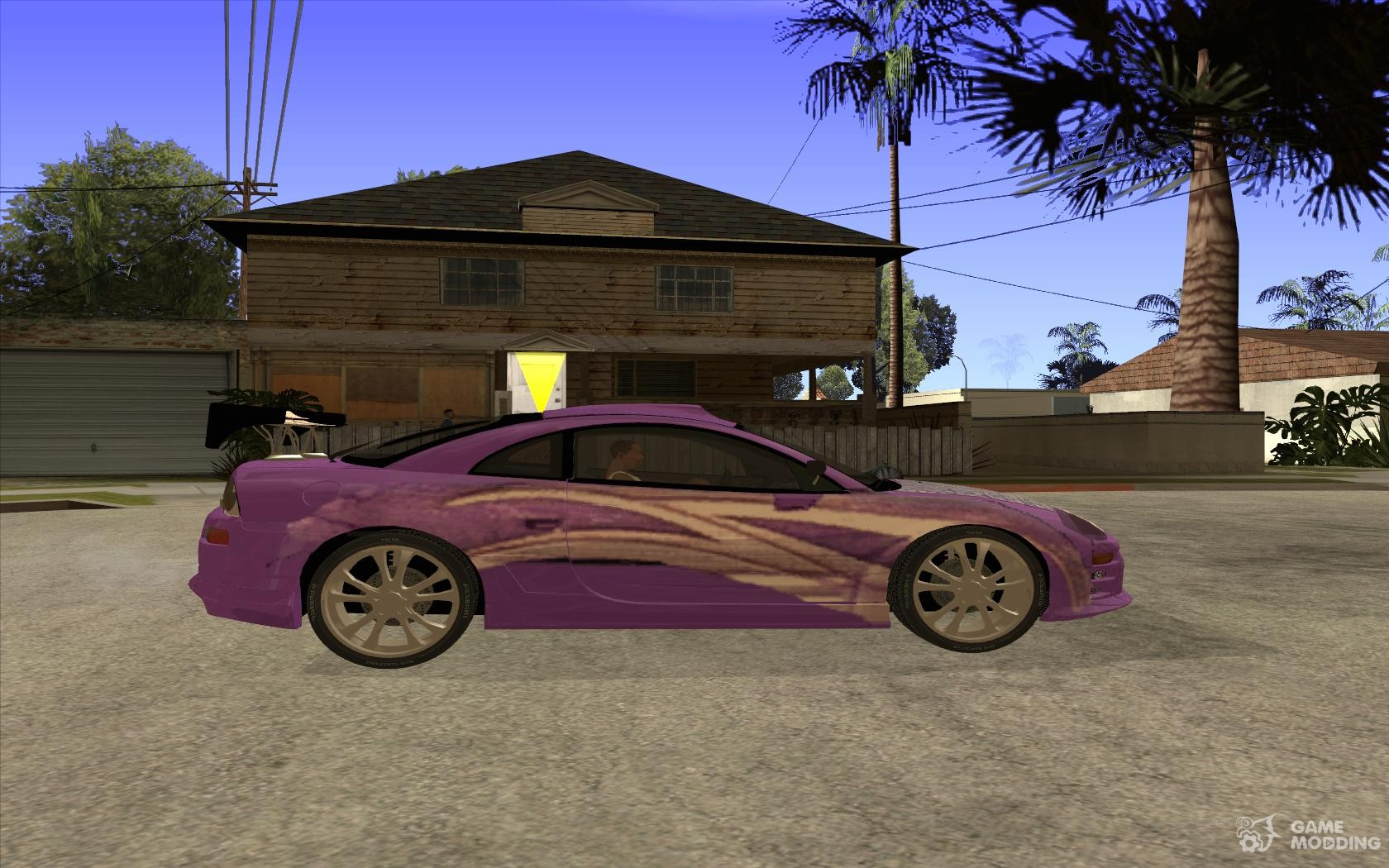mitsubishi eclipse spyder 2fast2furious for gta san andreas inside view