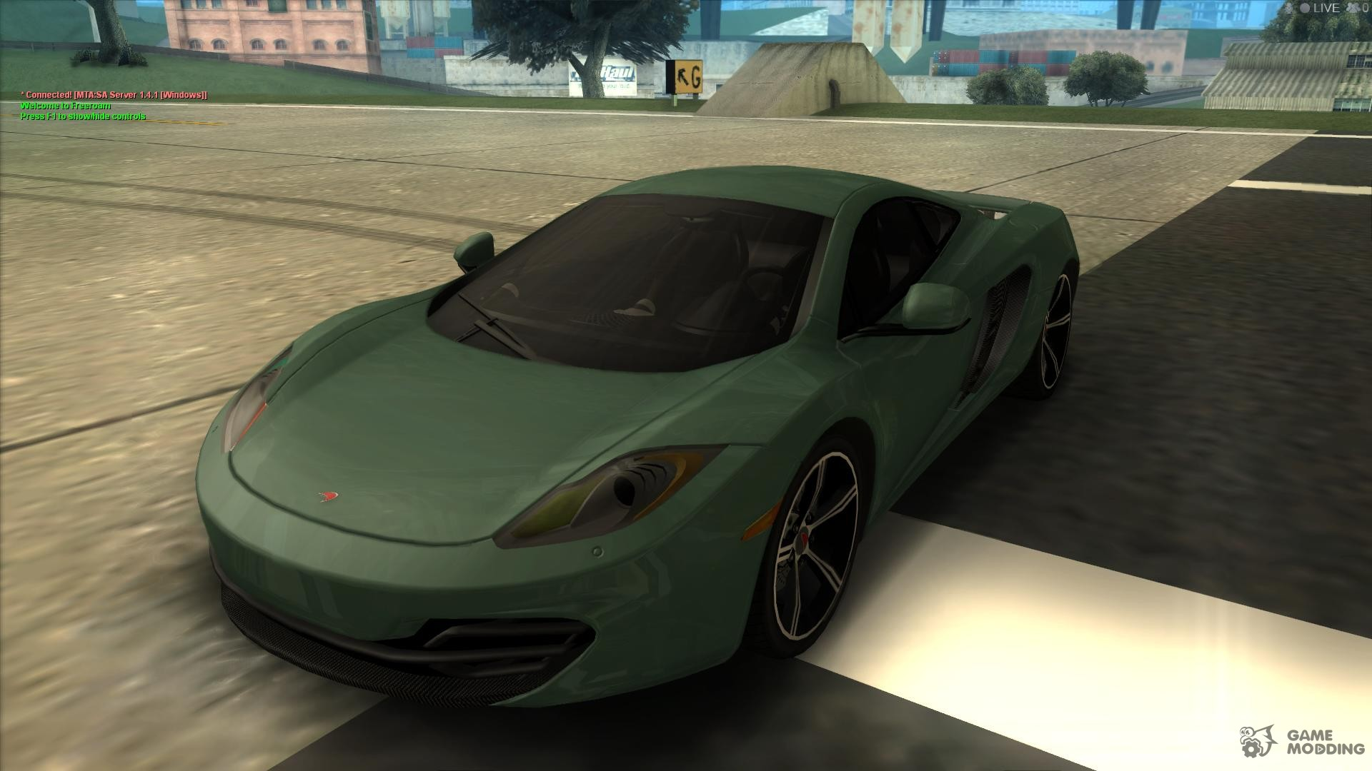 mclaren mp4 12 c gawai v1 5 hq interior for gta san andreas. Black Bedroom Furniture Sets. Home Design Ideas