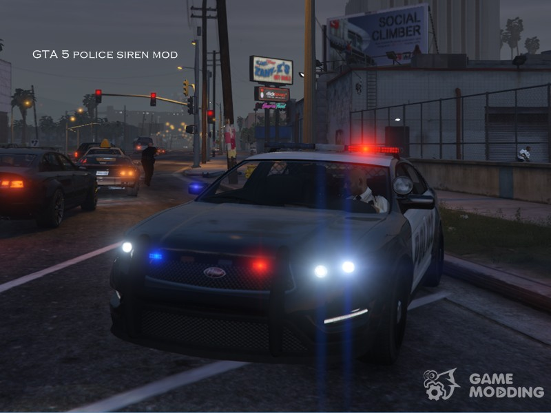 GTA 5 Police siren mod for GTA San Andreas