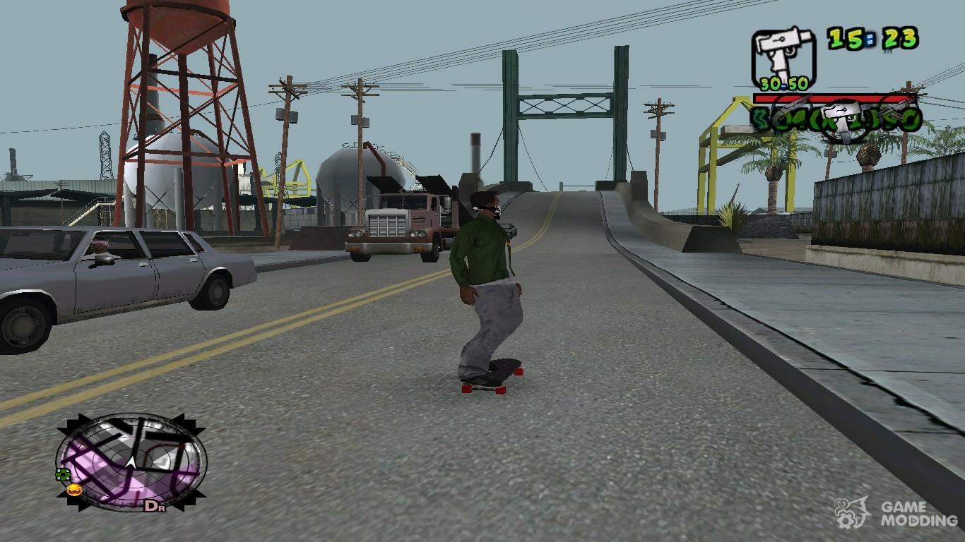 Скачать мод на гта на скейт