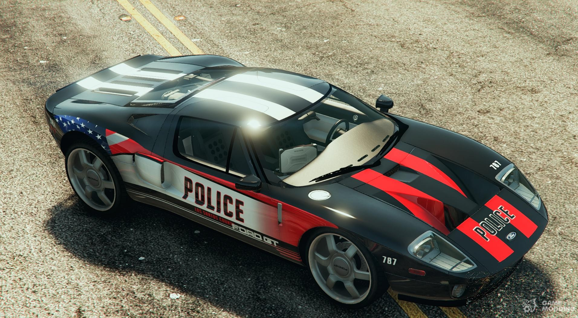 Ford Gt Police Car For Gta  Top View