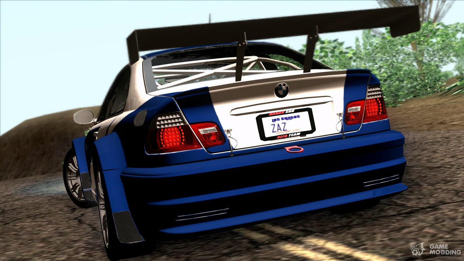 Bmw m3 gtr e46 2004 for gta san andreas left view