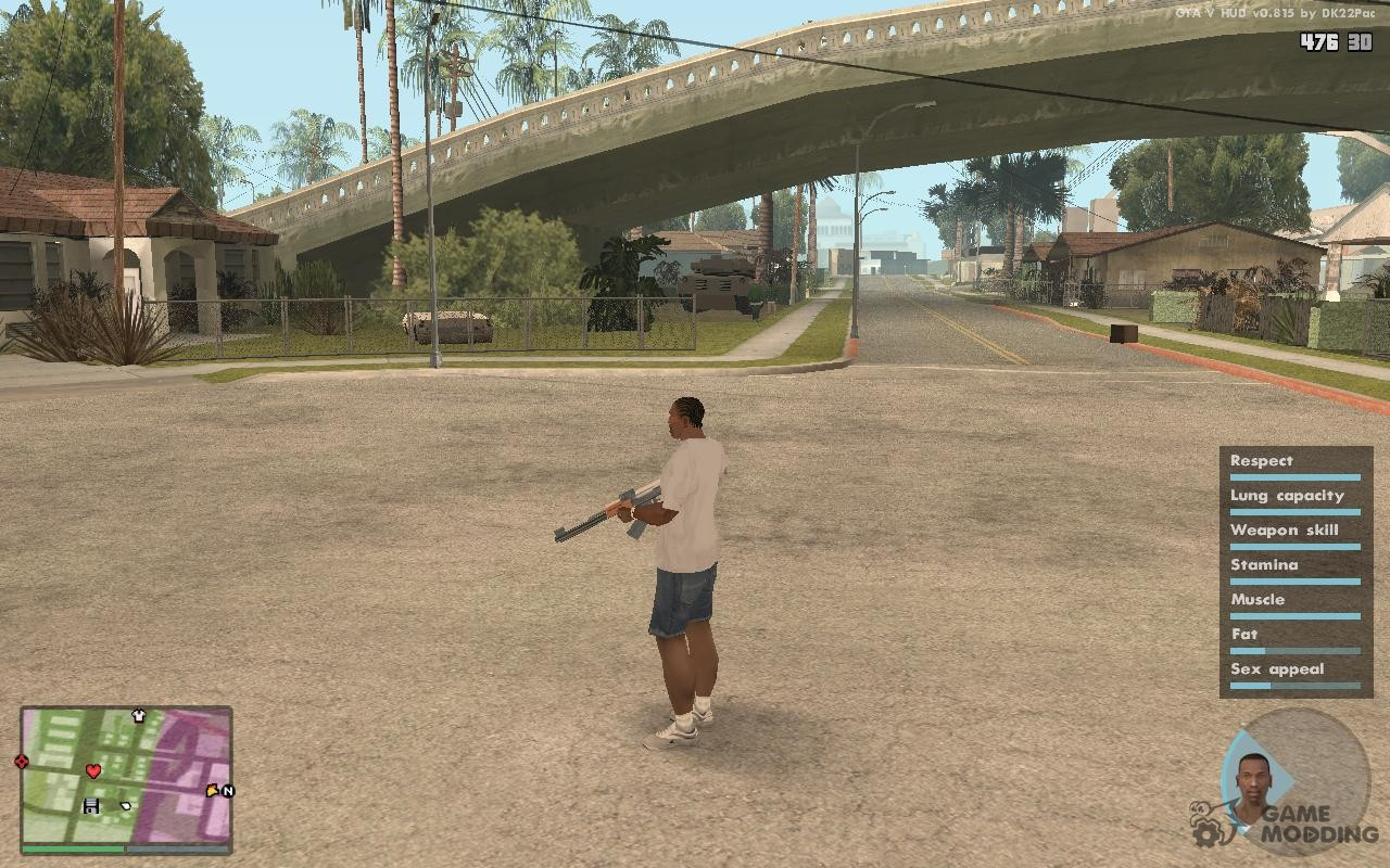 GTA V HUD by DK22Pac for GTA San Andreas