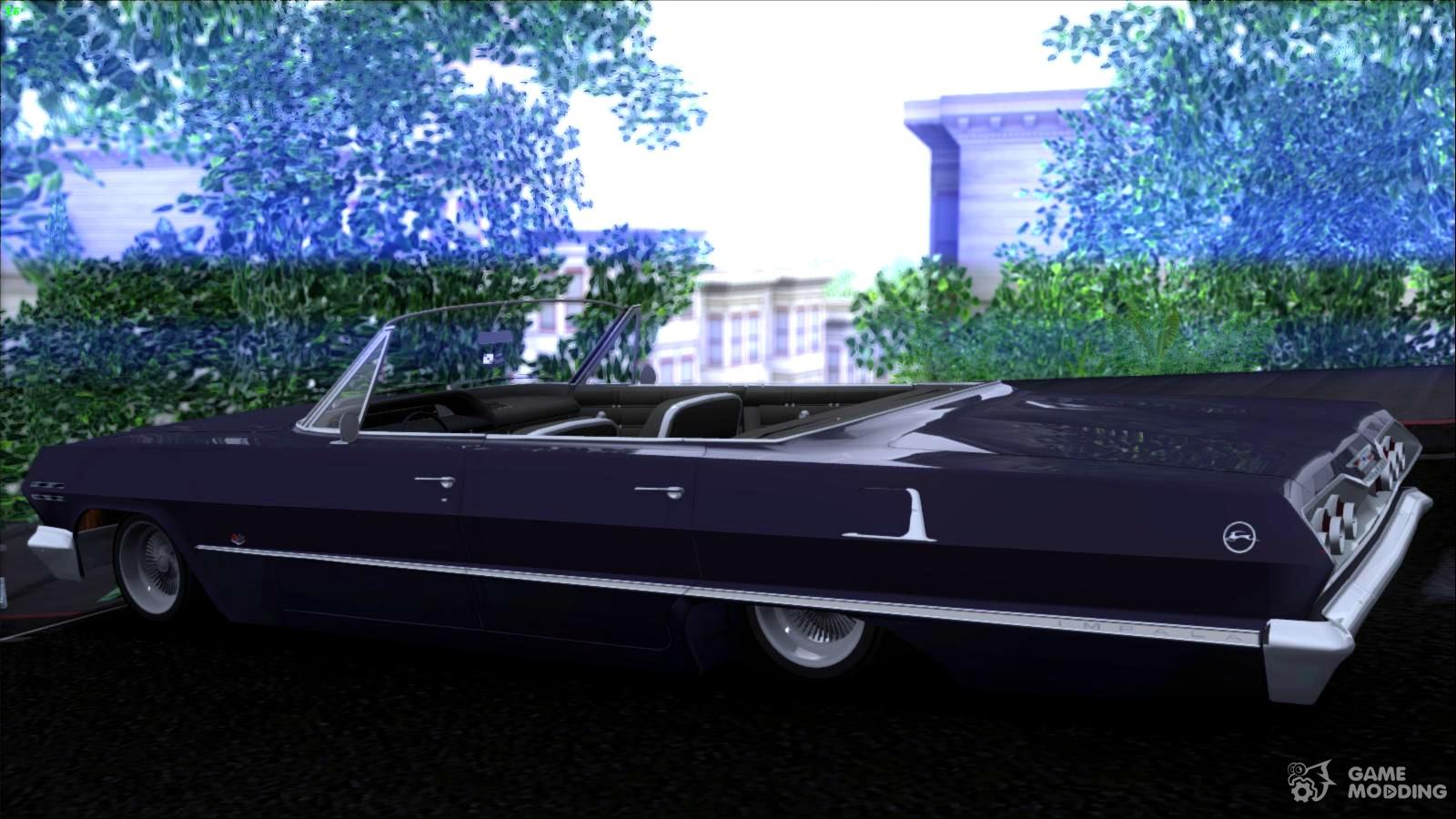Chevrolet impala 4 door hardtop 1963 for gta san andreas - Chevrolet Impala 1963 For Gta San Andreas Top View