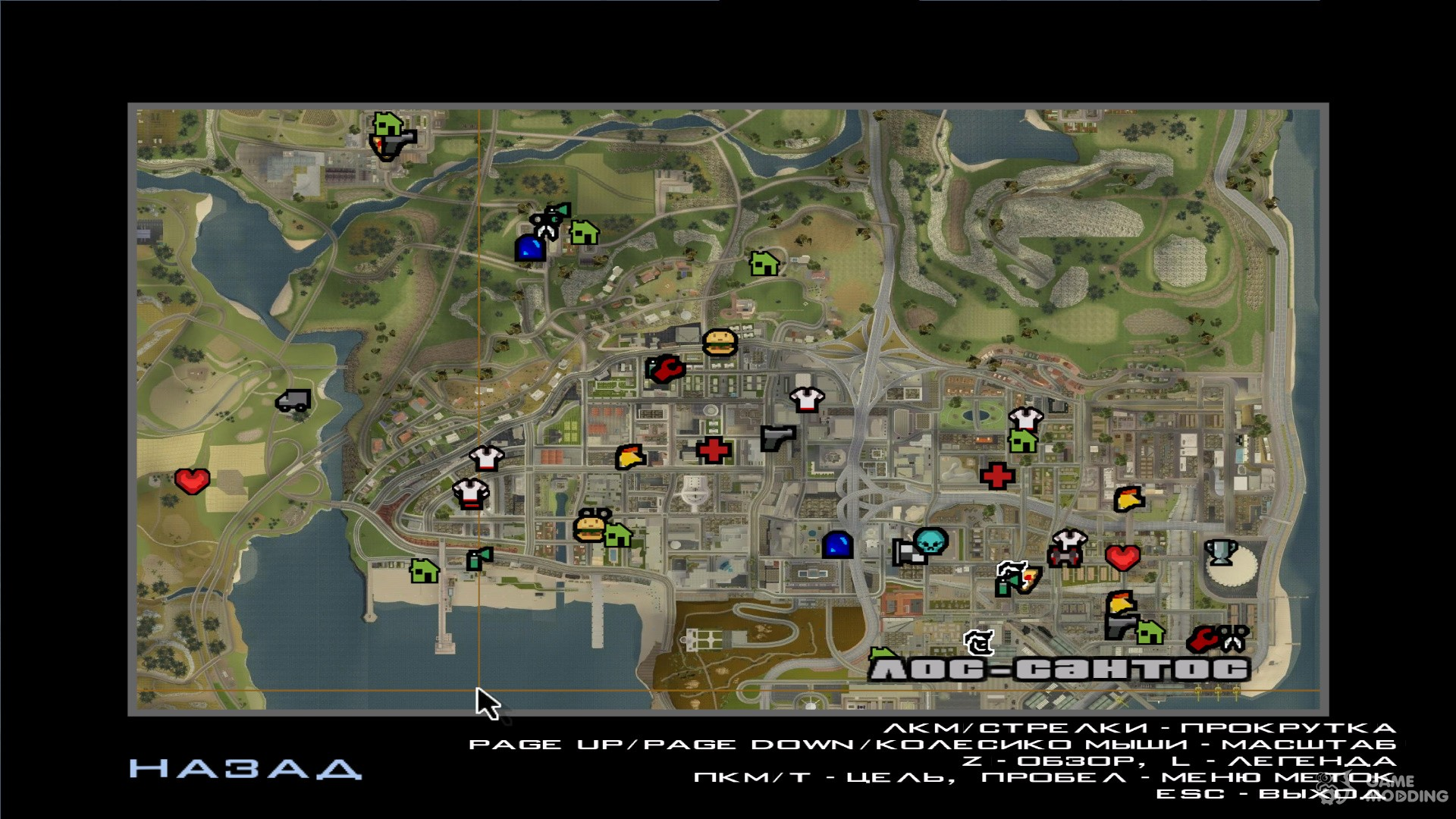 Maps For GTA San Andreas Page - San andreas on us map