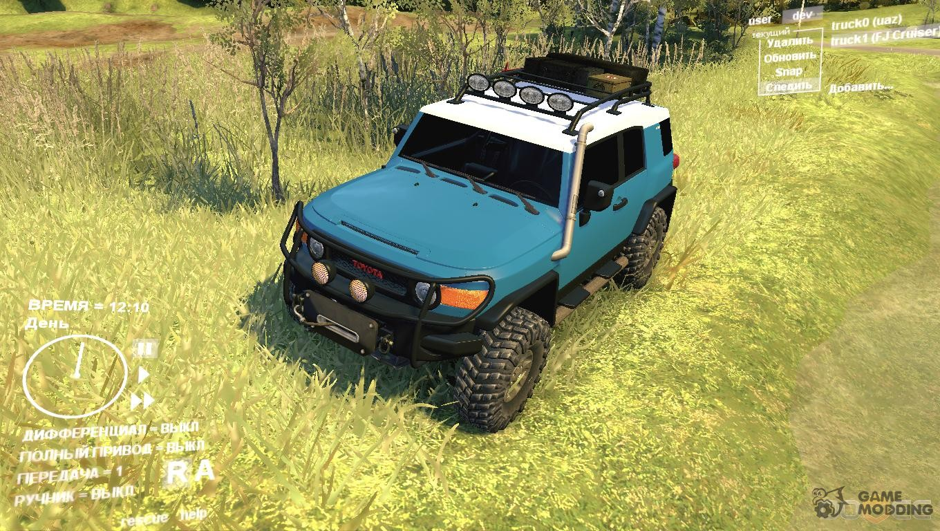 2011 Toyota FJ Cruiser Custom v1.0 for Spintires DEMO 2013