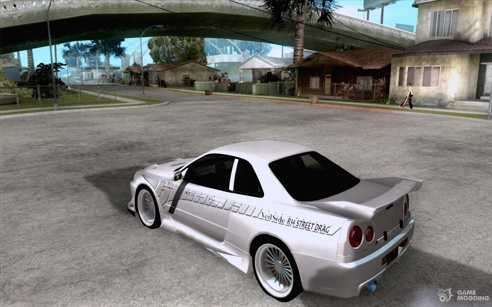 Nissan Skyline Custom >> Nissan Skyline R34 Veilside street drag for GTA San Andreas