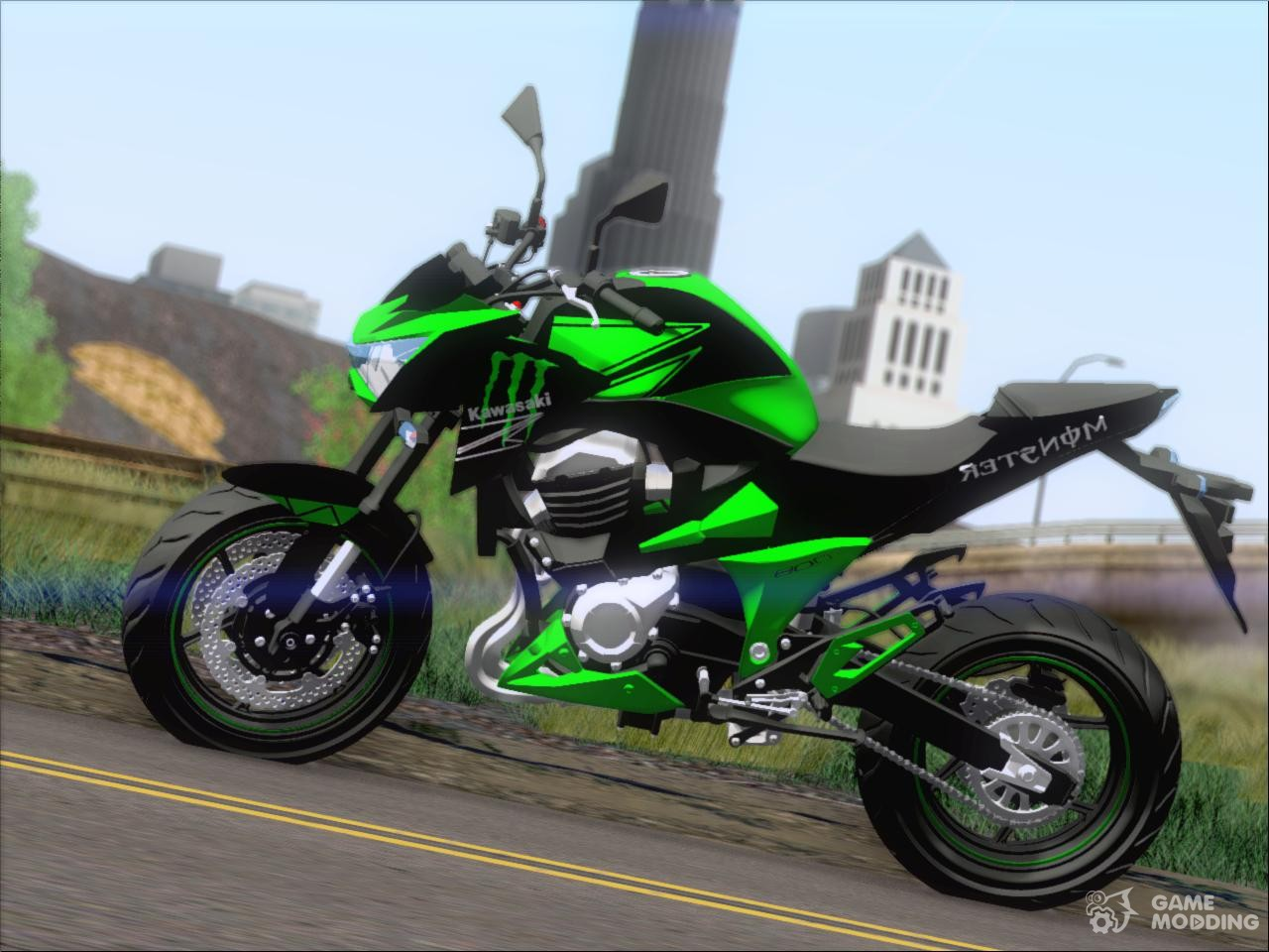kawasaki monster energy z800 for gta san andreas. Black Bedroom Furniture Sets. Home Design Ideas