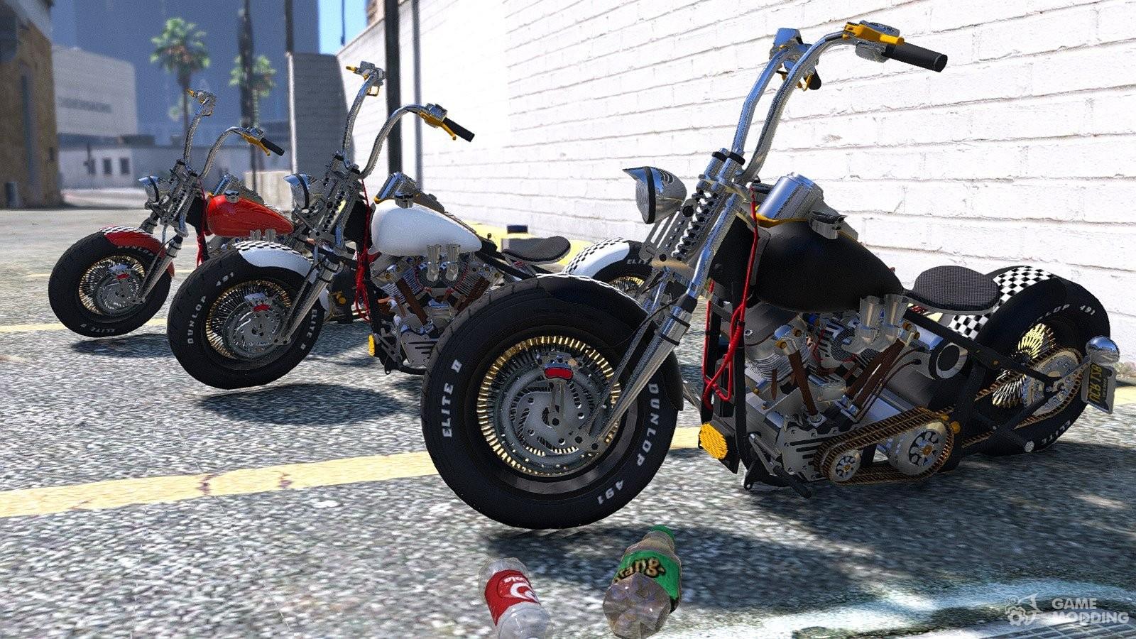 Harley Davidson: Harley-Davidson Knucklehead 2.0 For GTA 5