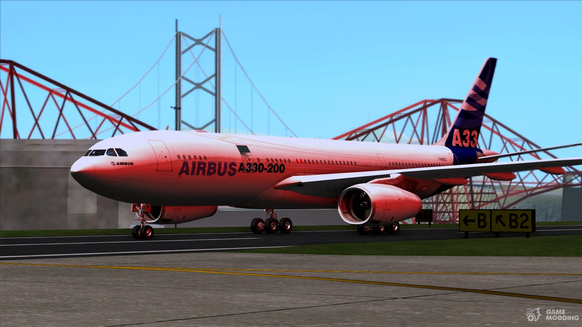 The Airbus A330-200 Airbus House Colors for GTA San Andreas