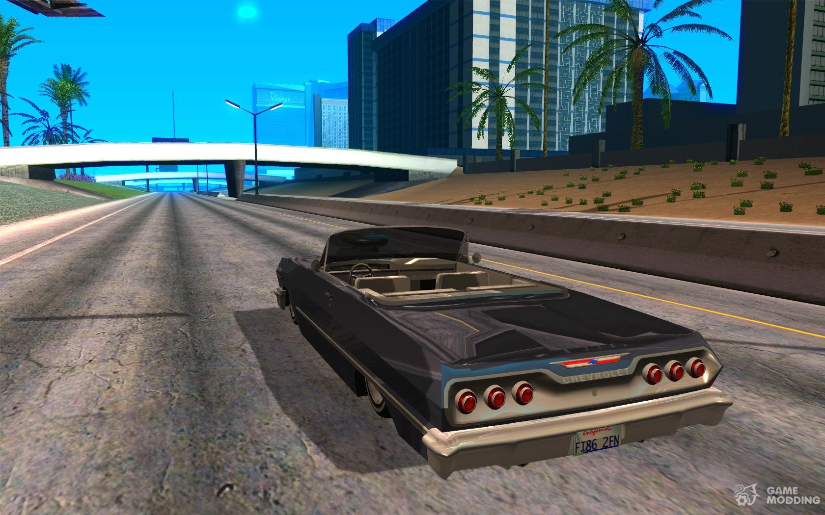 Chevrolet impala 4 door hardtop 1963 for gta san andreas - Chevrolet Impala 1963 Lowrider Charged For Gta San Andreas Rear Left View