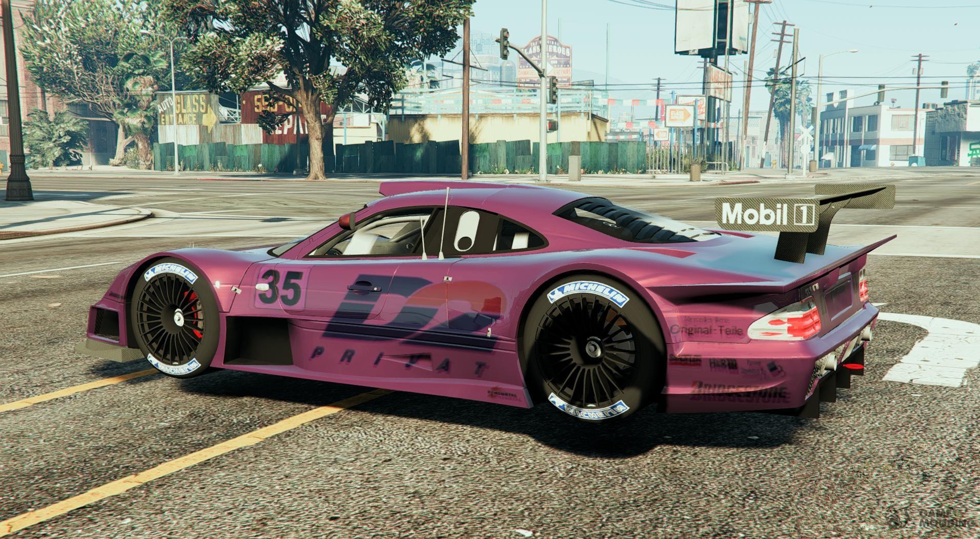 Mercedes Clk Lm Super Race Car For Gta