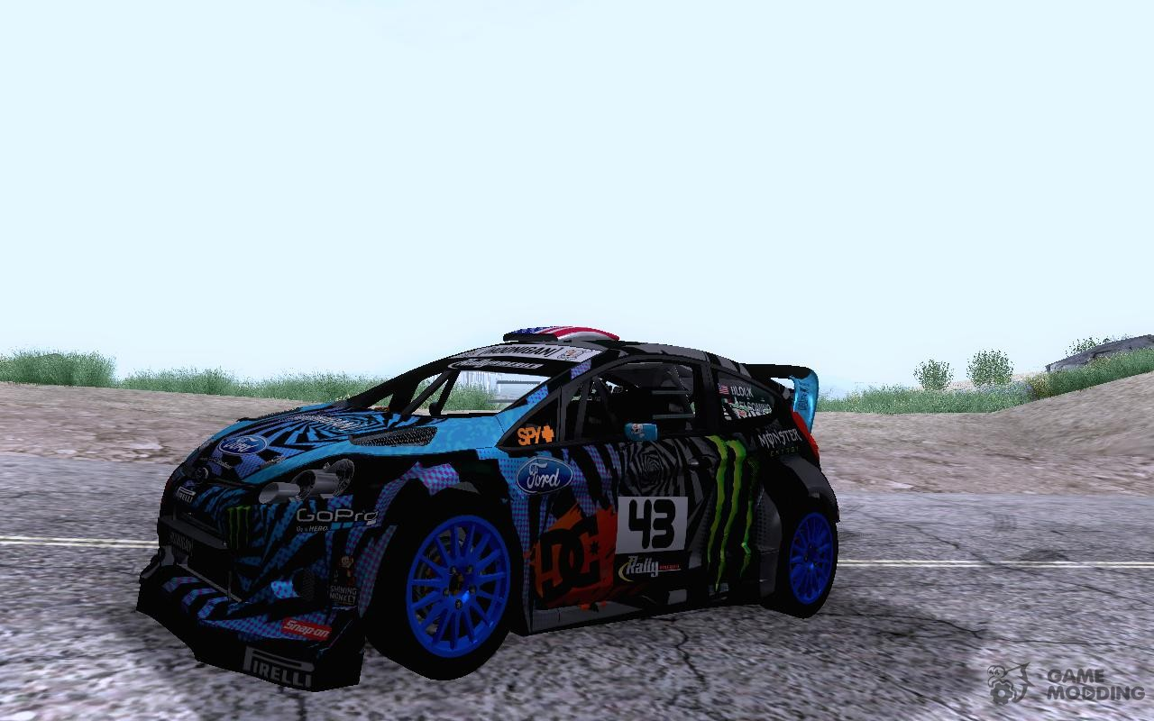 ford fiesta st rx43 2013 ken block for gta san andreas. Black Bedroom Furniture Sets. Home Design Ideas