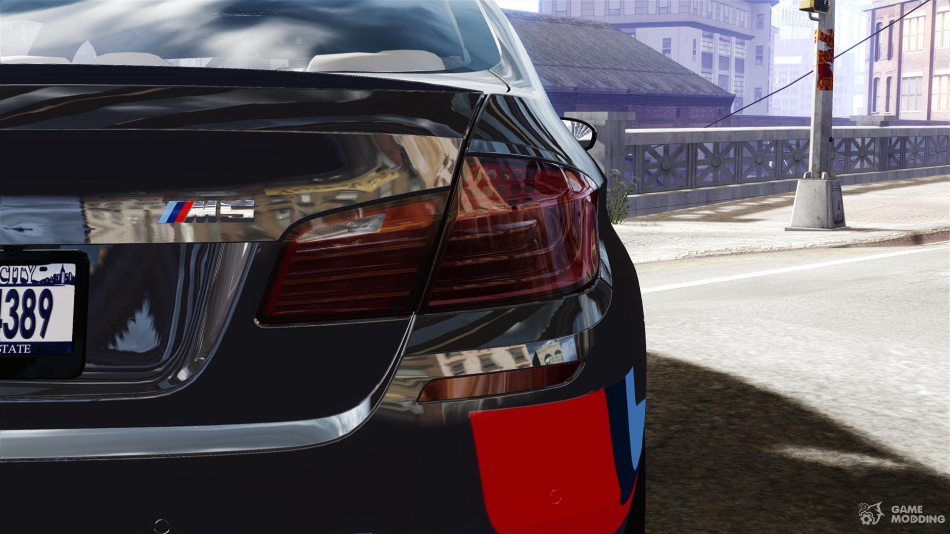 2012 Bmw M5 F10 M Stripes For Gta 4
