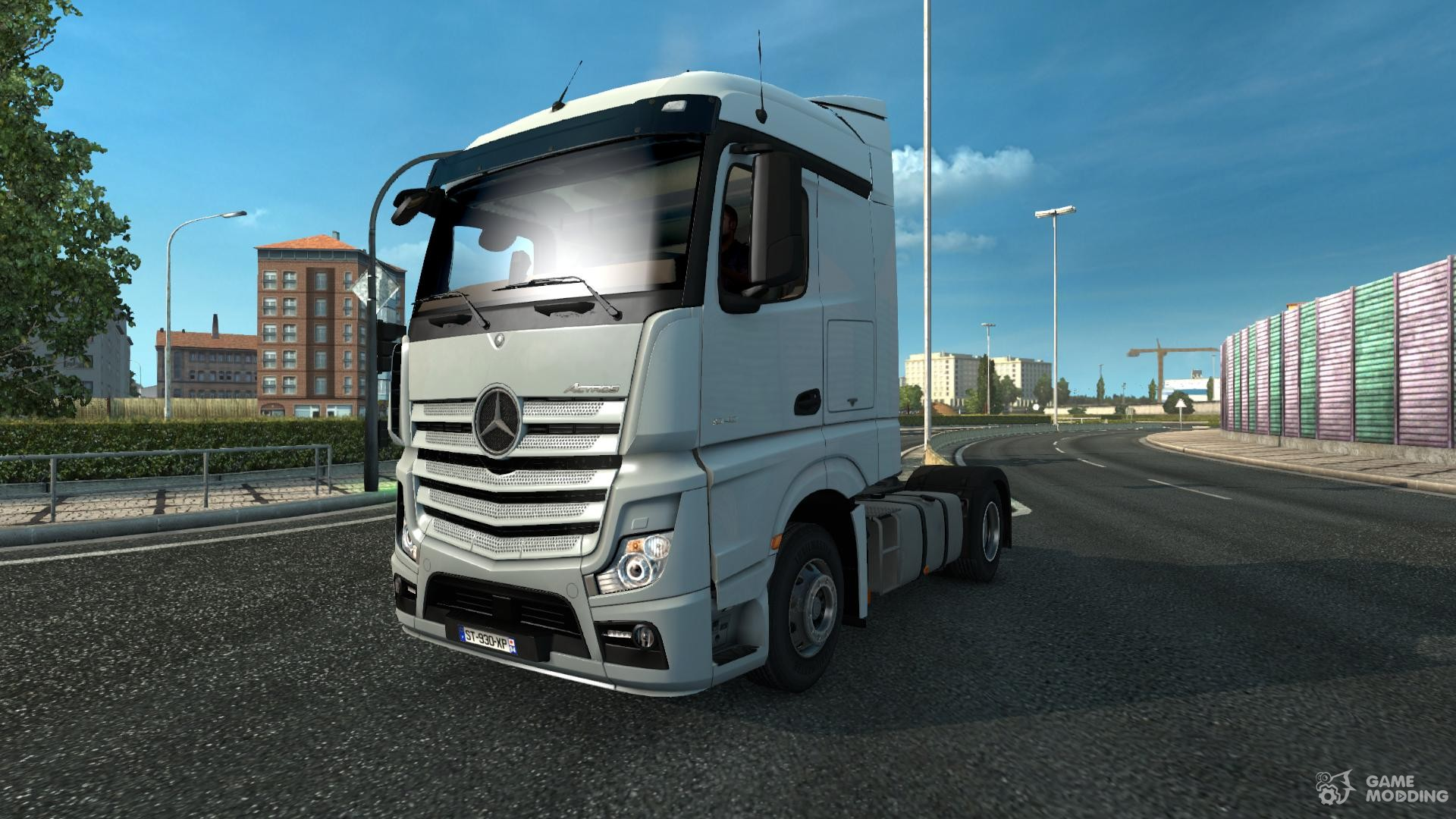 mercedes actros mp4 dhl tandem for euro truck simulator 2. Black Bedroom Furniture Sets. Home Design Ideas