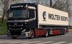 "Скин ""Wolter Koops"" для Mercedes Actros MP4 2014 for Euro Truck Simulator 2 rear-left view"