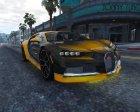 2017 Bugatti Chiron (Retextured) 3.0 for GTA 5 right view