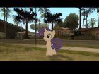 Rarity (My Little Pony) для GTA San Andreas вид слева