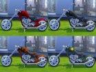 Мотоцикл  Esmeralda для Sims 4 вид слева