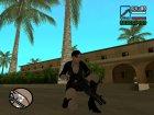 Джилл в короткой чёрной одежде для GTA San Andreas вид сверху