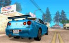 Nissan skyline GTR 34 V-Speect Nur for GTA San Andreas top view