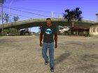 CJ в футболке (Bounce FM) for GTA San Andreas left view