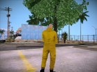 Breaking Bad Walter White Chemsuit для GTA San Andreas вид сзади слева