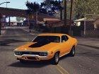 1972 Plymouth GTX for GTA San Andreas rear-left view