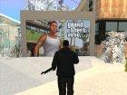 Дверь гаража текстура GTA V Франклин для GTA San Andreas вид сверху