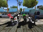 High Rated 6 Motorcycle Pack для GTA San Andreas вид сзади слева