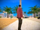 Бандит в малиновом пиджаке для GTA San Andreas вид слева