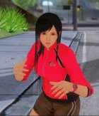 Kokoro wearing a tracksuit for GTA San Andreas left view