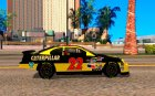 Dodge Nascar Caterpillar для GTA San Andreas вид изнутри